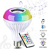 Tools & Hardware : LUXON Bluetooth Light Bulb Speaker RGB Color Changing Dimmable LED Light Bulbs Built-in Wireless Stereo Audio Speaker E26 Base Smart Music Light with 24 Keys IR Controller