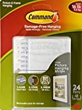 2 X Command Picture and Frame Hanging Strips, Large (24 pairs)