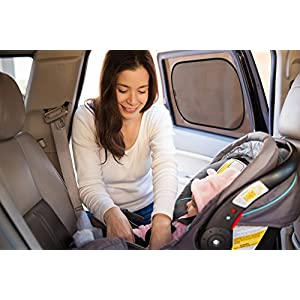"""FORTEM THE EXTRA MILE Car Shade 3 Pack - Side Window Sunshade - Cling Sun Reflector - Stick on Shade Perfect For Baby & Kids - Protects from 98% of Harmful UV Rays - Fits SUVs & Minivans 21"""" x 14"""""""