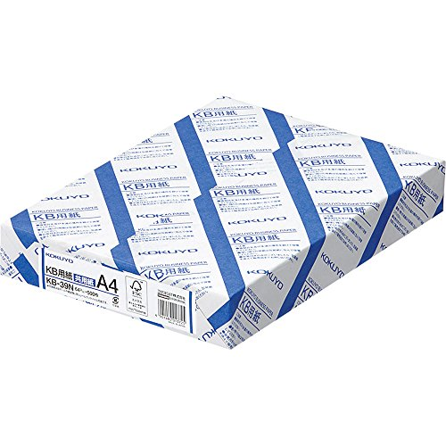 Kokuyo KB paper both FSC-certified paper 64g A4 500 sheets KB-39N (japan import)