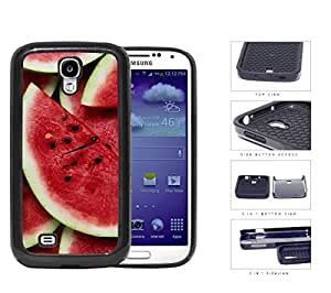 Fresh Red Watermelon Slices Fruit Pattern 2-Piece Dual Layer High Impact Rubber Silicone Cell Phone Case Samsung Galaxy S4 SIV I9500