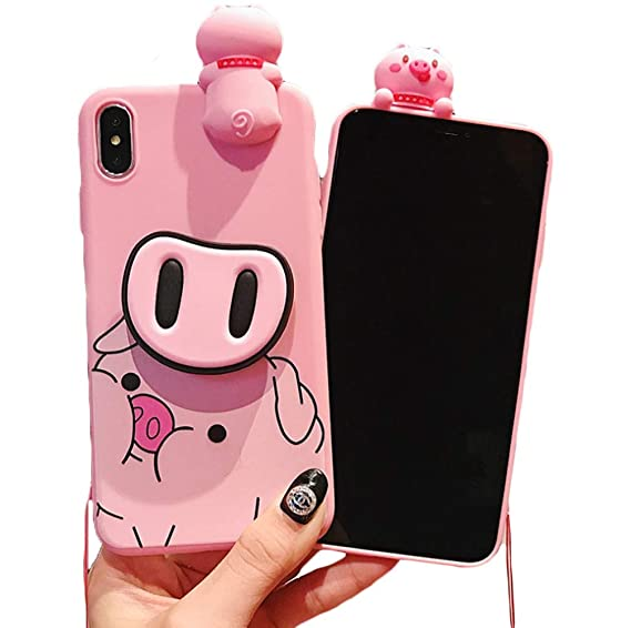 Amazon.com: 3D Piggy Soft Silicone Protector Case Gel ...