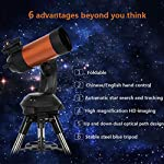 THESEUS Astronomical Telescope Intelligent Automatic Star Search Binoculars with Tripod, Professional Stargazing Telescope for Children Adult Beginners
