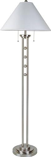 S.H. International Silver Metal Floor Lamp 63″H