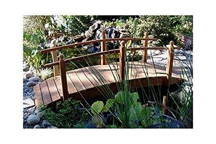 Attirant Redwood Garden Bridges 10 Ft. Single Rail (10 Ft. Single Rail)