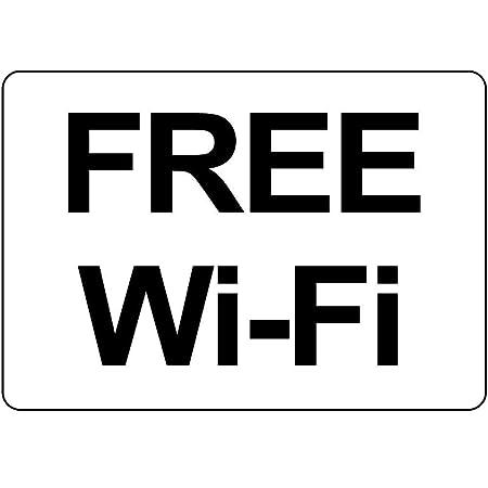 LORENZO Free WiFi Vintage Metal Cartel de Chapa Pared Hierro ...