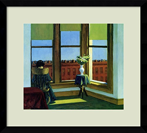 (Framed Art Print, 'Room in Brooklyn' by Edward Hopper: Outer Size 16 x 14