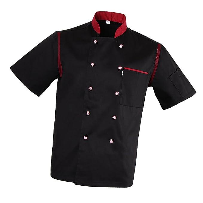 Homyl Uomo Donna Giacca Da Cuoco Tops Ristorazione Giacche da Chef  Amazon. it  Abbigliamento 65fadf2ff603