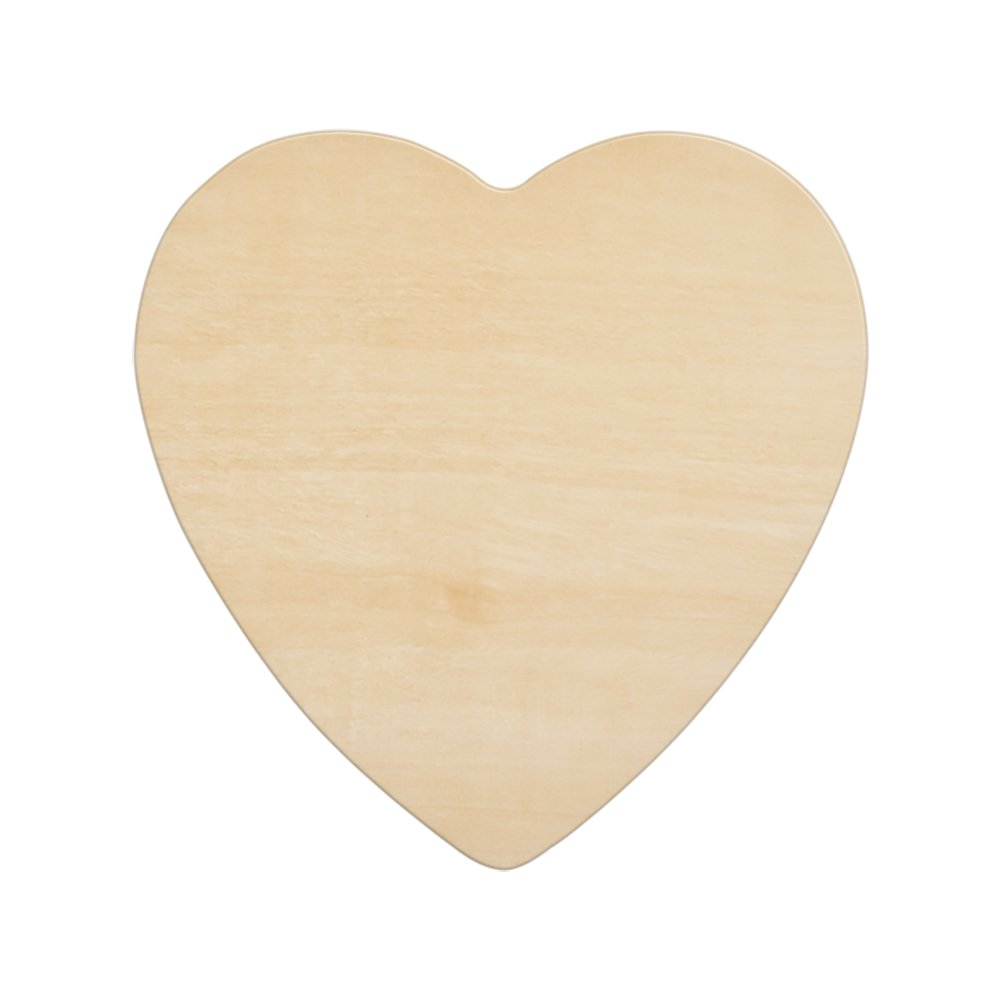 """Wood Heart 8-1/2 Inch, Unfinished Wooden Heart Cutout Shape, Wooden Hearts (8-1/2"""" Wide x 1/8"""" Thick) - Bag of 50"""