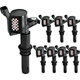 ford v10 coil pack - Bravex Ignition Coils for Ford F150 F-150 Lincoln Mercury V8 V10 4.6L 5.4L 6.8L Compatible with DG511 C1541 FD508 Black(8 PACK)