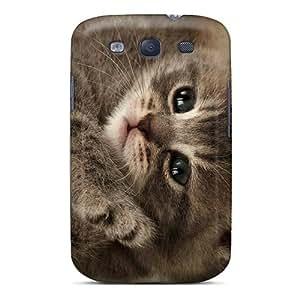 Hot Cutest Kitten First Grade Tpu Phone Case For Galaxy S3 Case Cover