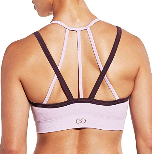 CALIA by Carrie Underwood Women's Inner Power Strappy Halter Seamless Heather Sports Bra (S, Orchid Bouquet Heather)