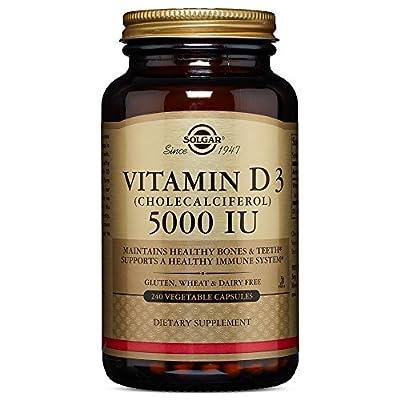 Solgar - Vitamin D3 (Cholecalciferol) 5,000 IU 240 Vegetable Capsules