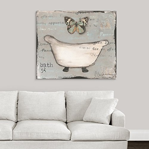greatBIGcanvas Gallery-Wrapped Canvas entitled Butterfly Tub by Cassandra Cushman 40''x34''