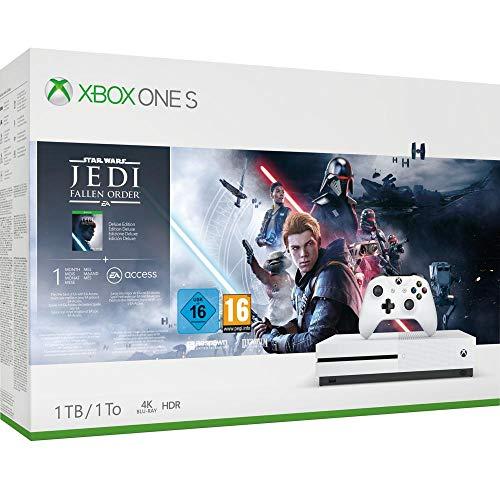 Microsoft – Consola 1 TB, Mando Inalámbrico + Star Wars Jedi: Fallen Order (Xbox One S)
