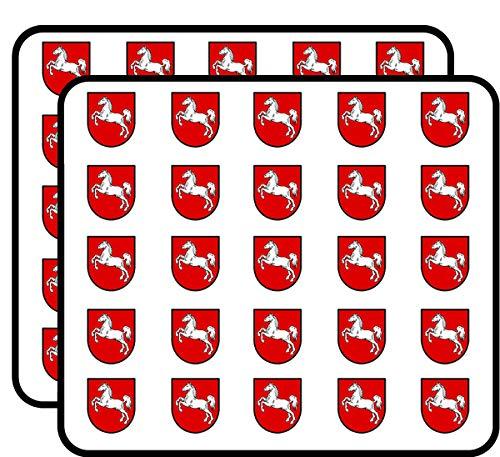 Lower Saxony Coat of Arms Shield Shaped (Germany Deutschland) Sticker for Scrapbooking, Calendars, Arts, Kids DIY Crafts, Album, Bullet Journals