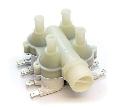 Válvula electromagnética carga Agua 4 Vías 90 ° Lavadora Universal ...