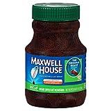 Maxwell House Original Medium Roast Decaf Instant Coffee (8oz Jars, Pack of 12)