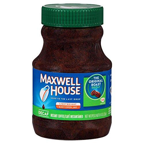 Maxwell House Decaf Original Medium Roast Instant Coffee (8 oz Jars, Pack of 12)