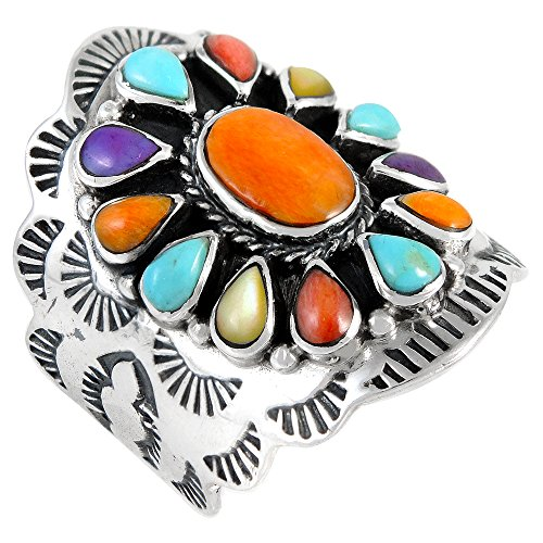 (Sterling Silver Genuine Gemstones & Turquoise (SELECT color) (Multi, 8))