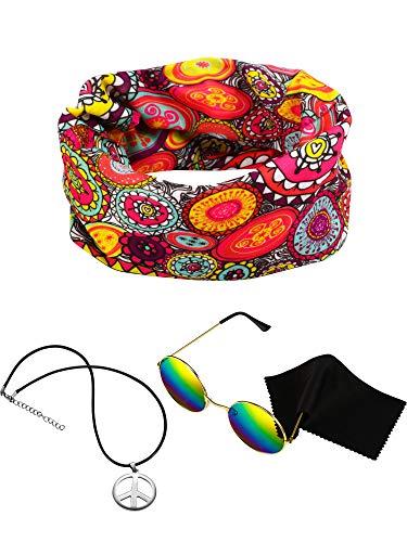 Hippie Theme - 3 Pieces Hippie Costume Set, Include