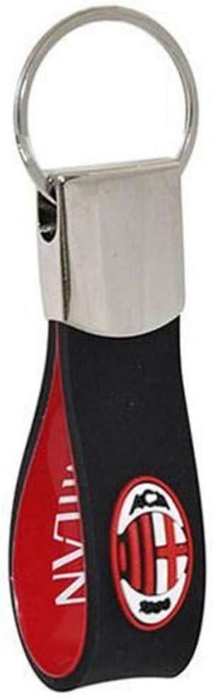 Porte-cl/és en caoutchouc souple Milan produit officiel rouge id/ée cadeau noir