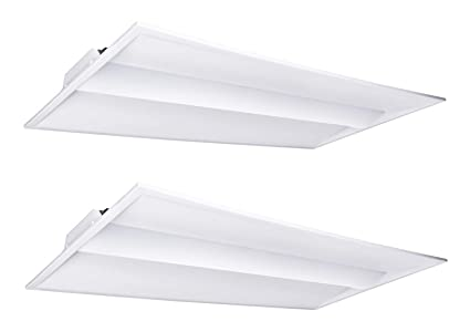 Hyperikon 2x4 FT LED Troffer Dimmable Panel, Volumetric Troffer, 40W,  Recessed Panel Light