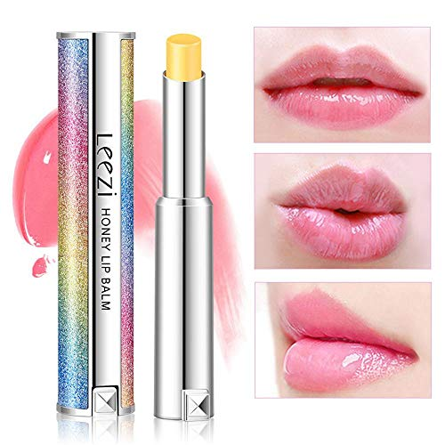 Transparent Jelly Temperature Change Lipstick, Aolvo Honey Moisturising Lipgloss Starry Sky Rainbow Color Lip Magic Party Makeup