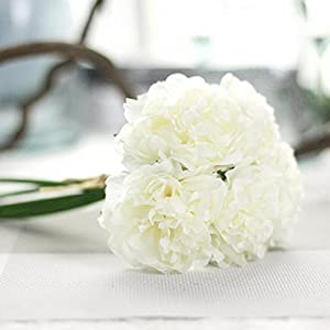 Artificial Silk Peony Floral,Fake Flowers,Wedding Bouquet ,Tuscom Bridal Hydrangea Decor (1, F) 42