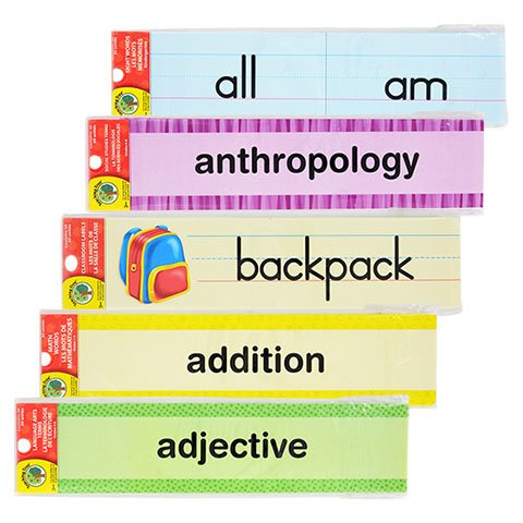 Back to School Toddler Pre-school Elementary School Classroom Teaching Tree Classroom Labels & Sight Word Strips