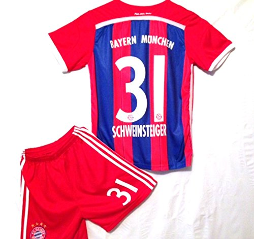 the latest 3eedc e677e Bayern Munich Schweinsteiger 2014-2015 Home Soccer Jersey + ...