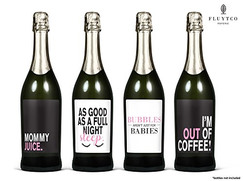 Mommy Meltdowns! - Set of 8 Wine Bottle Labels - Gifts for Mom or Mother-to-be! Baby shower - New Mom appreciation or birthday gifts