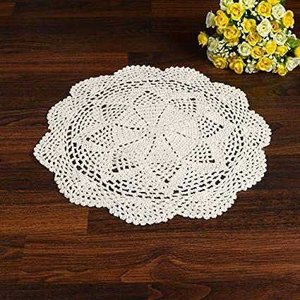 Amazoncom Deemoshop 33cm Pastoral Flower Placemat Table Mat