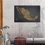 Mapas de México en Corcho. El mejor regalo para el día del amor y la amistad.