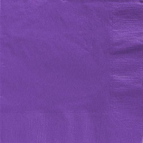 (Amscan 2-Ply New Purple Dinner Napkins, 50 Ct. | Party Tableware)