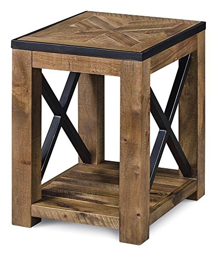 Magnussen Square End Table - Magnussen T2386-10 Penderton Wood Chair Side End Table