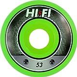 Hi-Fi Livewire 53mm Green Swirl Superthane Wheels (Set of 4)