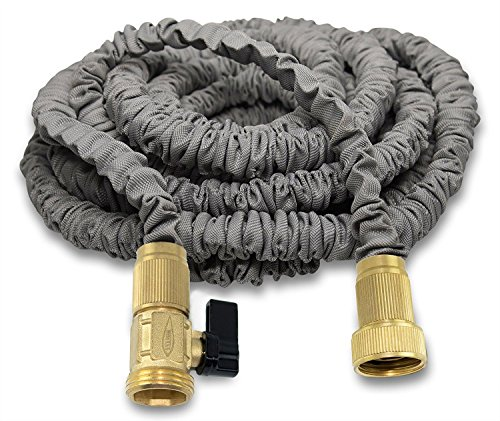 150 Foot Expandable Garden Water Hose by Titan IMPROVED Leak Resistant Solid Brass Connectors Heavy Duty Double Latex Core Design Expanding Retractable Flexible and Lightweight For Home Use