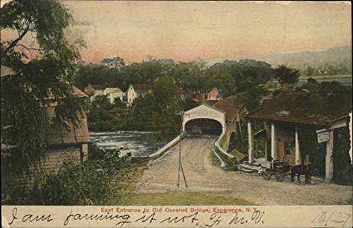 East Entrance to Old Covered Bridge Esperance, New York Original Vintage Postcard