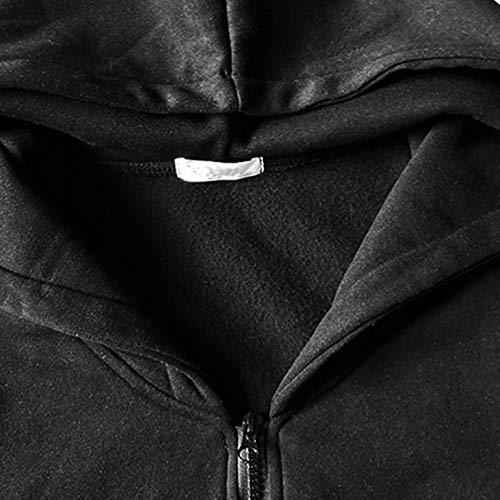 De Casual Blusa Raya Calentar Largo Hombres Talla Capucha Dogzi Abrigo Entrenamiento Camisa Larga Con Invierno otoño Sudadera Manga Cremallera Grande Tops Sudaderas Negro M~3xl Chaqueta Suéter Cz0wa