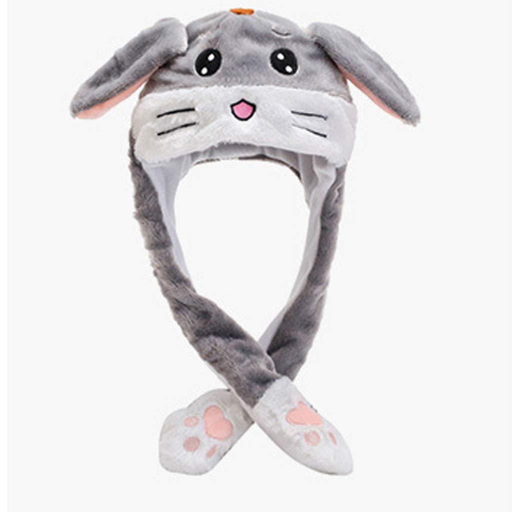 SSUPLYMY Women Hat Ear Wrap Men Warm Fashion Cute Hat Men Fake Soft Hat Plush Light Bunny Hat Fashion Cute Lightweight and Soft Beanie Long Unisex