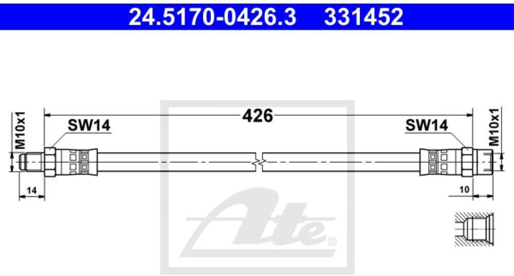 Ate 24 5170 0426 3 Bremsschlauch Auto