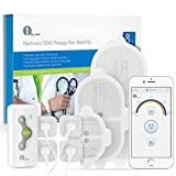 1byone Wireless TENS Therapy Muscle Stimulator for Pain Relief Electronic Pulse Massager with Wireless Control App, Variable Size Electrodes Pads