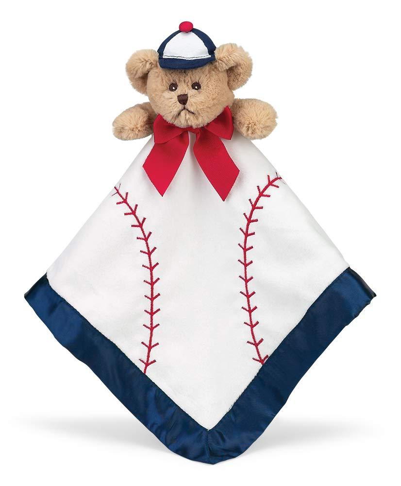 Bearington Baby Lil' Slugger Snuggler, Baseball Plush Teddy Bear Stuffed Animal Security Blanket, Lovey 15'' by Bearington Collection