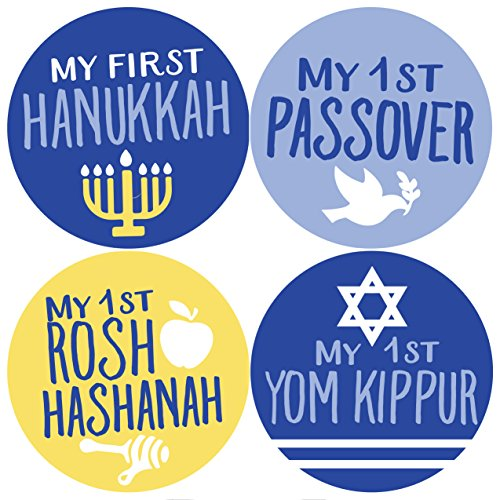 (Jewish Holiday Stickers, Baby Stickers, Jewish Baby Sticker, Hanukkah Sticker )