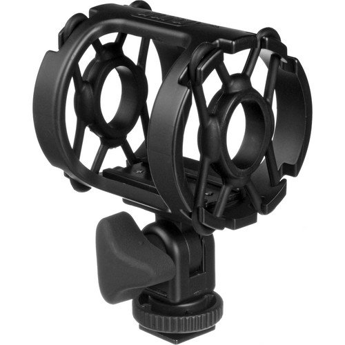 1 Universal Microphone - Auray DUSM-1 Universal Shock Mount for Camera Shoes and Boompoles