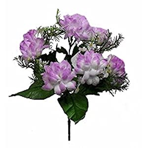 Artificial Garden 7 Mums Lavender Lilac Bush Wedding Bridal Bouquet Silk Flower Floral Arrangements Flowers Table Centerpiece 72