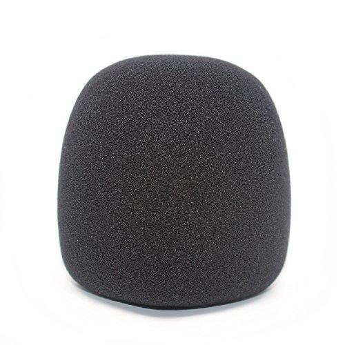 El parabrisas de espuma para el Yeti azul también puede cubrir otros micrófonos grandes como MXL, Audio Technica y más. Hecho de un material de esponja de calidad que actúa como un filtro de pop para su micrófono (negro)