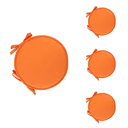 Meigold - Cojín Redondo para Asiento, 2 tamaños, Orange Red ...