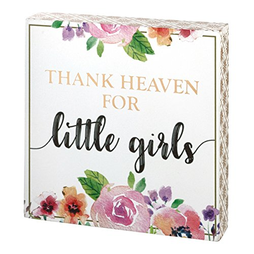 Lillian Rose Thank Heaven For Little Girls Sign, Pink (Girl Heaven Thank)